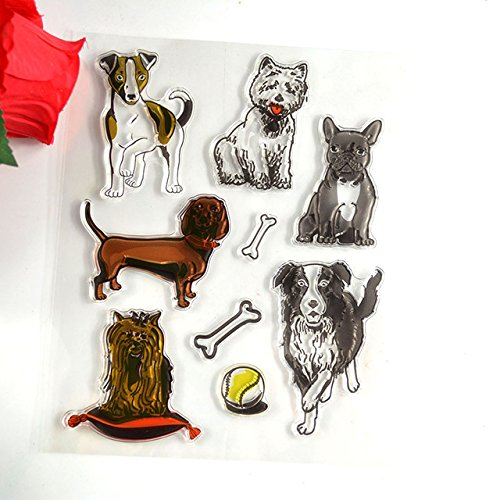 Transparent Stamp Pets - 1 Piece Pets And Toys Transparent Stamp Scrapbooking Card Making Decoration Supplies - Monogram Embroidery Stamp