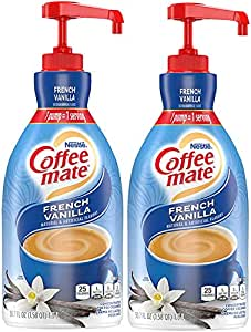 Nestle Coffee mate Coffee Creamer, French Vanilla, Liquid Pump Bottle, 50.7 Ounces (Pack of 2)