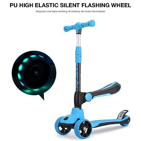 Fascol 2 en 1 Patinete de 3 Ruedas de LED para Niños Scooter ...