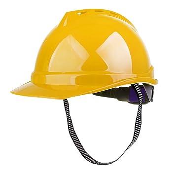 MagiDeal Casco de Seguridad Casco Duro Ventilado para Trabajo Construcción - amarillo: Amazon.es: Bricolaje y herramientas