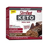 SlimFast Keto Meal Replacement Bar, Whipped Triple Chocolate, 1.48 Oz, 5 Count, Pack of 1
