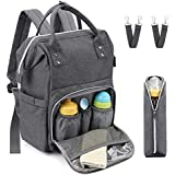 Baby Diaper Bag Backpack for Mom/Dad, Meinkind Large Multi-Functional Travel Back Pack Maternity Nappy Bag Tote with Insulated Pockets, Stroller Straps, Stylish Designer Nursing Bags for Boys/Girls