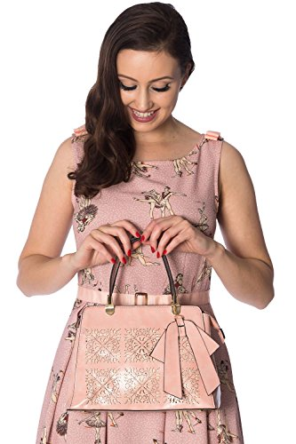 Rosa Vintage vietato Floral Phoebe Abbigliamento Retro Bolso cOqvRWwp