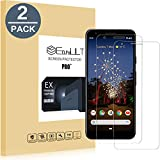 EasyULT [2 pack]Google Pixel 3a Screen Protector,Premium Tempered Glass Screen Protector,with Double Defense Technology with [2.5D Round Edge] [9H Hardness] [Crystal Clear] [Scratch Resist] [No-Bubble]