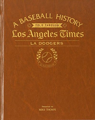 LA Dodgers Personalized Newspaper Book The Los Angeles Times Baseball History