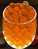 Water Beads King Water Beads, 1 Oz~4000, Good Quality, Jelly Water Growing Balls for Kids, Tactile Sensory Toys, Orbeeze, Vases, Plants, Wedding, Party, Home Decorations 3+Yr (Orange)