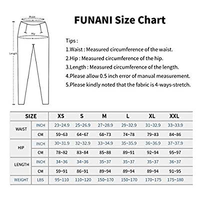 FUNANI High Waist Yoga Pants with Pockets, Yoga Pants for Women Running Workout Yoga Leggings with Pockets: Clothing