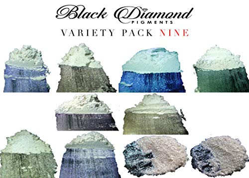 Ghost Series Variety Pack 9 (10 Colors) Mica Powder (Epoxy,Slime,Color,Art) Black Diamond Pigments ()