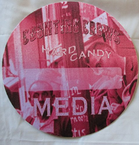 2003 Counting Crows Hard Candy Satin Backstage Pass Media Red