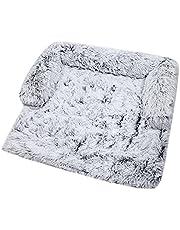 Tvättbar varm hundsäng kattsäng plysch ortopedisk hundbädd filt med halkfri undersida, hundmadrass kudde och kudde matta för hundbur sällskapsdjur säng matta hundsoffa