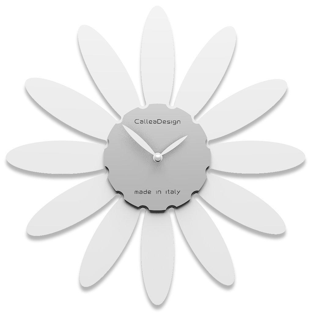 Calleadesign - Wanduhr Gänseblümchen, Weiß