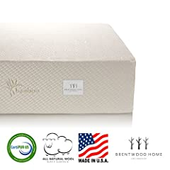 This Brentwood Home mattress provides a medium-firm feel. The 2.5-inch layer of gel infused memory foam responds to your body's individual shape, weight, and temperature. It adjusts its shape to provide precise support, keeping your spine in ...