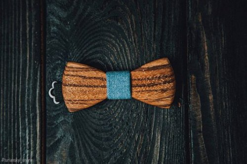 Used, Blue jeans Bowtie zebrano Wooden Classic Tree with for sale  Delivered anywhere in USA