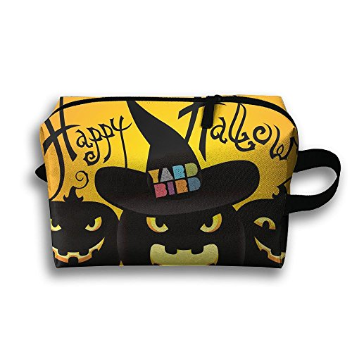 Bra Halloween Accessory - GNMB Happy Halloween Portable Travel Home Lingerie Bra Cosmetic Make-up Storage Bag Handbag