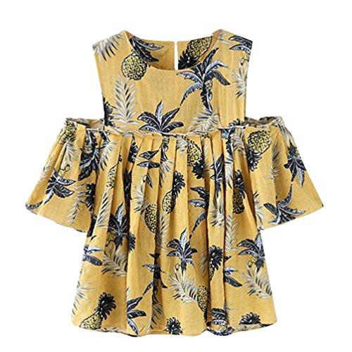 Loisirs Shirts Blouse Chic Femme Sans Chemisier Tops T Heheja Jaune Bretelles Plissage 54xa7pqnw