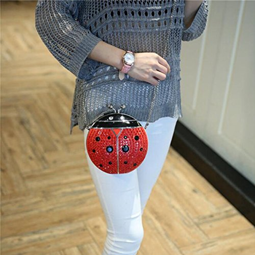 Bag Take Bag Luxury Chain Ladybug Opponents Party Evening Handbag Ladies Seven And Strawberry Bag Fashion Bag Send Dress Personality Acrylic WUHX Studded Spot Dinner 0Bf6wZwq
