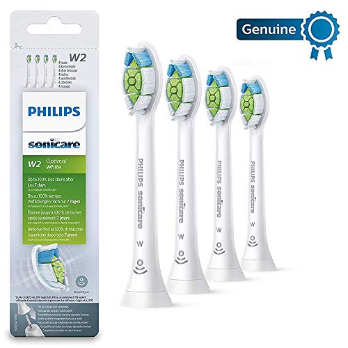 Philips Genuine Sonicare Optimal White Replacement Brush Heads, 4 Pack, White - HX6064/12
