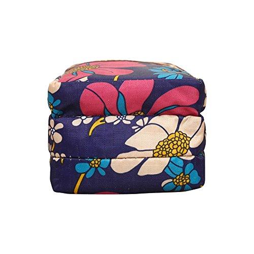 Layers Shoulder Womens Messenger Wristlet Blue Purse Wocharm 3 Handbag 3 Mini Crossbody Flower qYdtwXSx