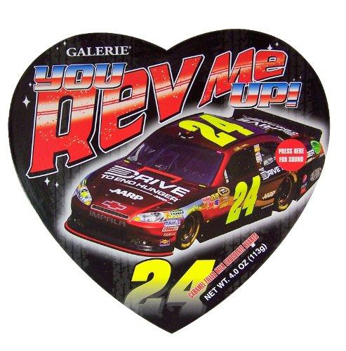 Drivers Start Your Engines! Nascar Driver #24 Jeff Gordon Talking Valentine's Day Candy (Jeff Gordon Gift Box)