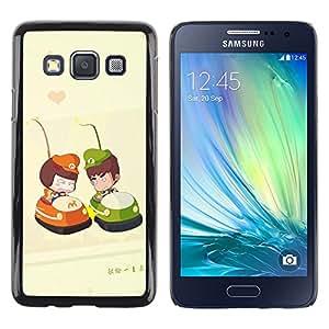 Be Good Phone Accessory // Dura Cáscara cubierta Protectora Caso Carcasa Funda de Protección para Samsung Galaxy A3 SM-A300 // Cute Bumper Couple