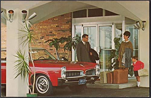 Holiday Inn Cincinnati OH postcard 1966 Pontiac Tempest