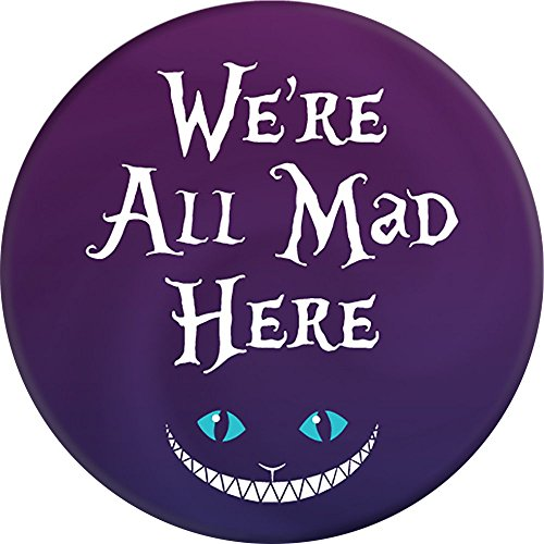 Brave New Look Wonderland We're All Mad Here Pop Sockets Stand for Smartphones and Tablets by Brave New Look (Image #1)