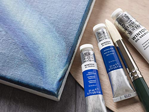 Winsor & Newton Winton Oil Colour Paint, 37ml tube, Prussian Blue (1414538)