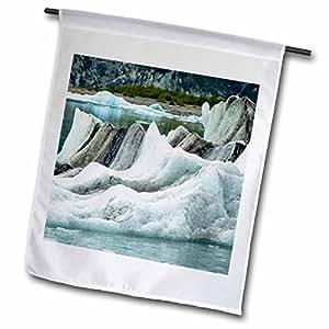 Danita Delimont - Bays - Alaska, Glacier Bay NP, Ice floating, Glacier Bay - US02 JGI0103 - Jerry Ginsberg - 18 x 27 inch Garden Flag (fl_87520_2)