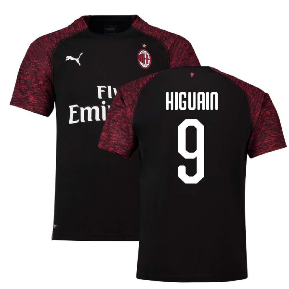 2018-19 Ac Milan Third Football Soccer T-Shirt Trikot (Gonzalo Higuain 9)