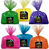 Not too big not too small! Five pounds of six colors(30 lbs total) is just enough for any photo shoot, small school function, or birthday party. Guaranteed to brighten any event! The multi-pack is enough for an event of 25-35 people. You will...