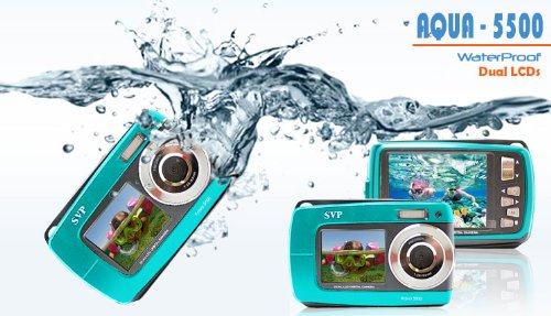 SVP Aqua 5500 (Blue) 18 MP Dual Screen Waterproof Digital Camera by SVP (Image #5)