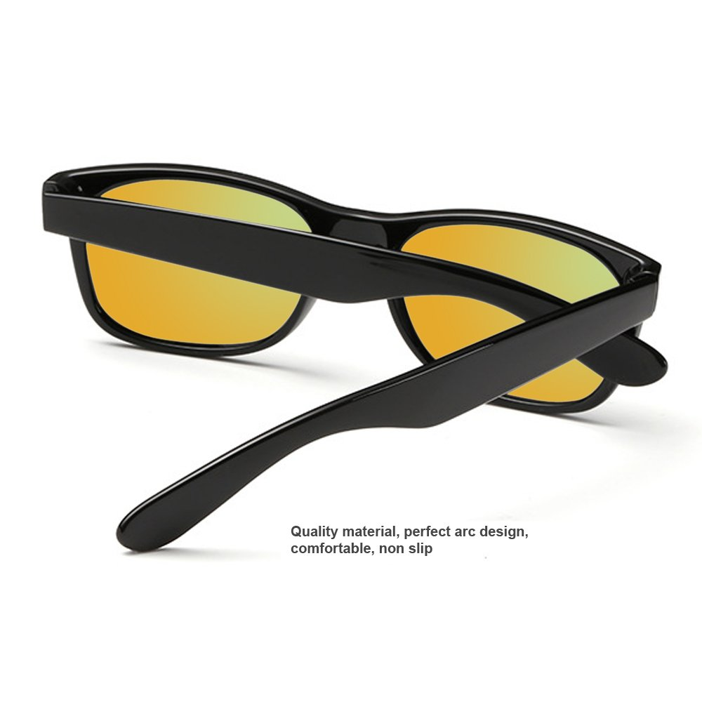 Joliann Polarized UV400 Classic Sunglasses with Mirrored Reflective Revo Color Lens