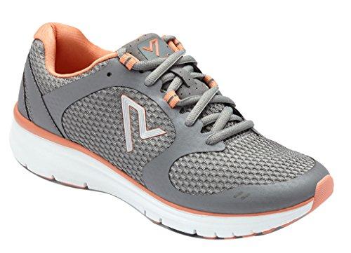 Vionic Womens Vio-Nrg Elation1.0 Laceup Sneaker Grey/Coral Size 11