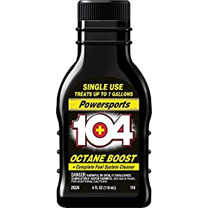 104+ 29224 Powersports Octane Boost and Complete Fuel System Cleaner, 4 Fl oz.