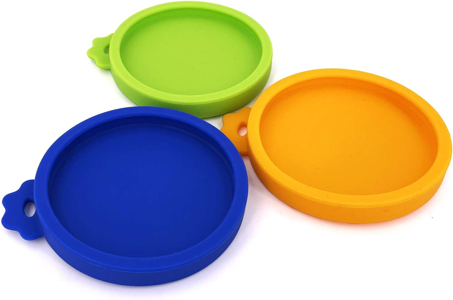 Comtim 3 Pack Cat Food Can Lids, Silicone Small Pet Food Can Lids Covers for 3 oz Cat Food Cans