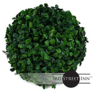 3rd Street Inn Topiary Ball - Artificial Topiary Plant - Wedding Decor - Indoor/Outdoor Artificial Plant Ball - Topiary Tree Substitute 2
