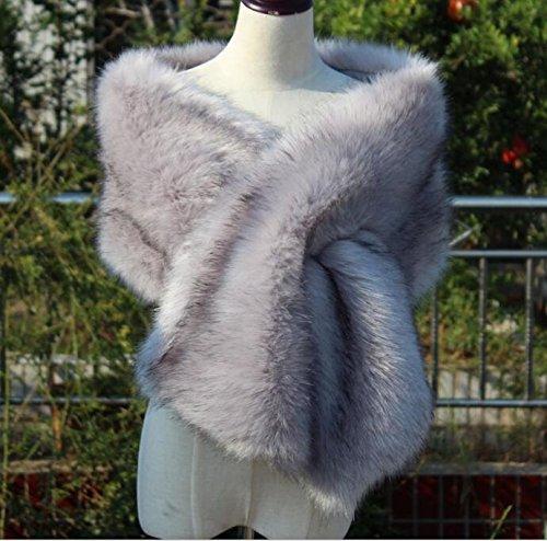 Gray Fur Shawl