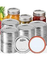 Wide Mouth Canning Lids, Split-Type Regular Canning Jar Lids, Rust-Proof Mason Jar Lids Bulk, Food Grade Material, Perfect for Food Storage, 100% Fit & Airtight for Regular Mouth Jars
