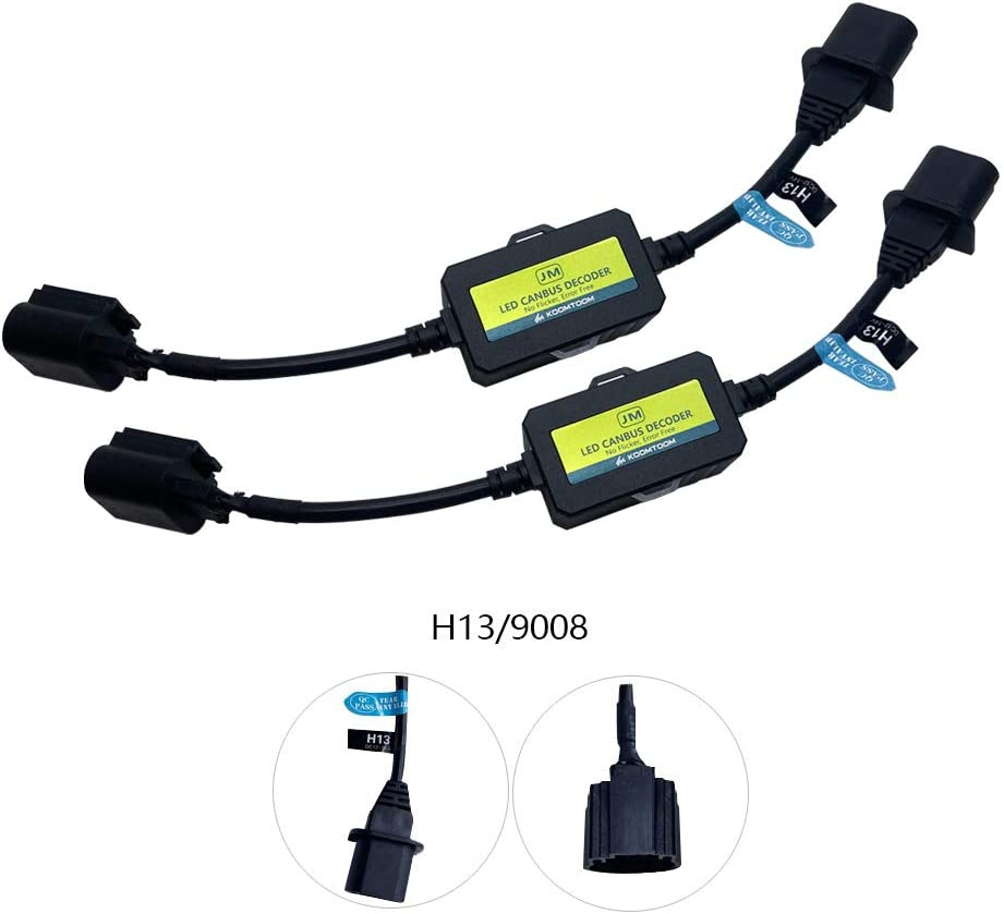 2006Dodge RAM 2500 AnyCar Led Headlight Decoder H13 9008 Canbus Resistor Anti-flicker Harness Headlight Bulb Decoder for 2006 Dodge RAM 2500