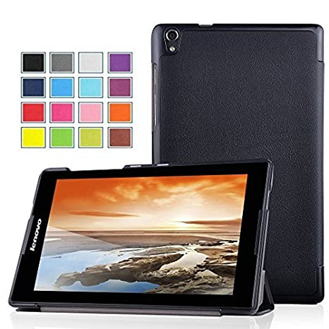 best service 82cad 52f3a ELTD Smart Cover Case For Lenovo Tab S8-50 - Ultra Slim Stand Cover with  Auto Sleep/Wake Function (For Lenovo Tab S8-50, Black)