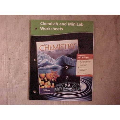 Chemistry: Matter and Change, Chemlab and Minilab Worksheets ...