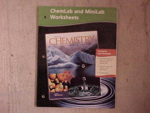 Chemistry: Matter and Change, Chemlab and Minilab Worksheets