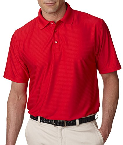 ULTRACLUB Adult Cool-N-Dry Elite Drop-Needle Performance Polo>M Red 8413