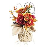 Keep your indoors lively as the plant life outside starts to hibernate. This artificial floral decor makes a wonderful centerpiece or tabletop piece for the holiday season. The orange and red polyester poppies makes a bold statement against t...