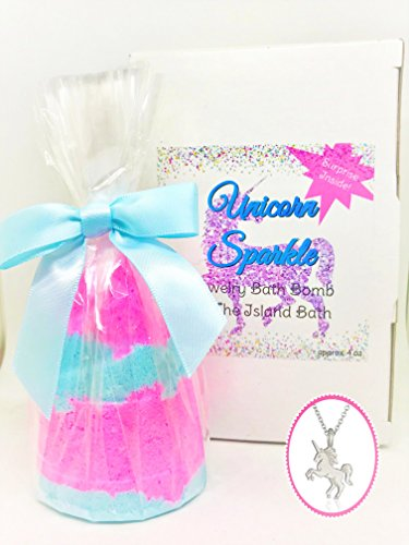 Unicorn Sparkle Surprise Jewelry Bath Bomb - Mother's Day - Made in the USA - The Island Bath & Body – Shea & Cocoa Butter