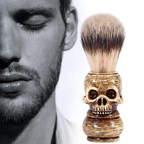 Mens Grooming Tool Makeup Skull Head Barber Salon Beard Shaving Brush]()