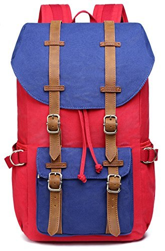 Kaukko Bags - Outdoor Canvas Leather Backpack ab596b8139223