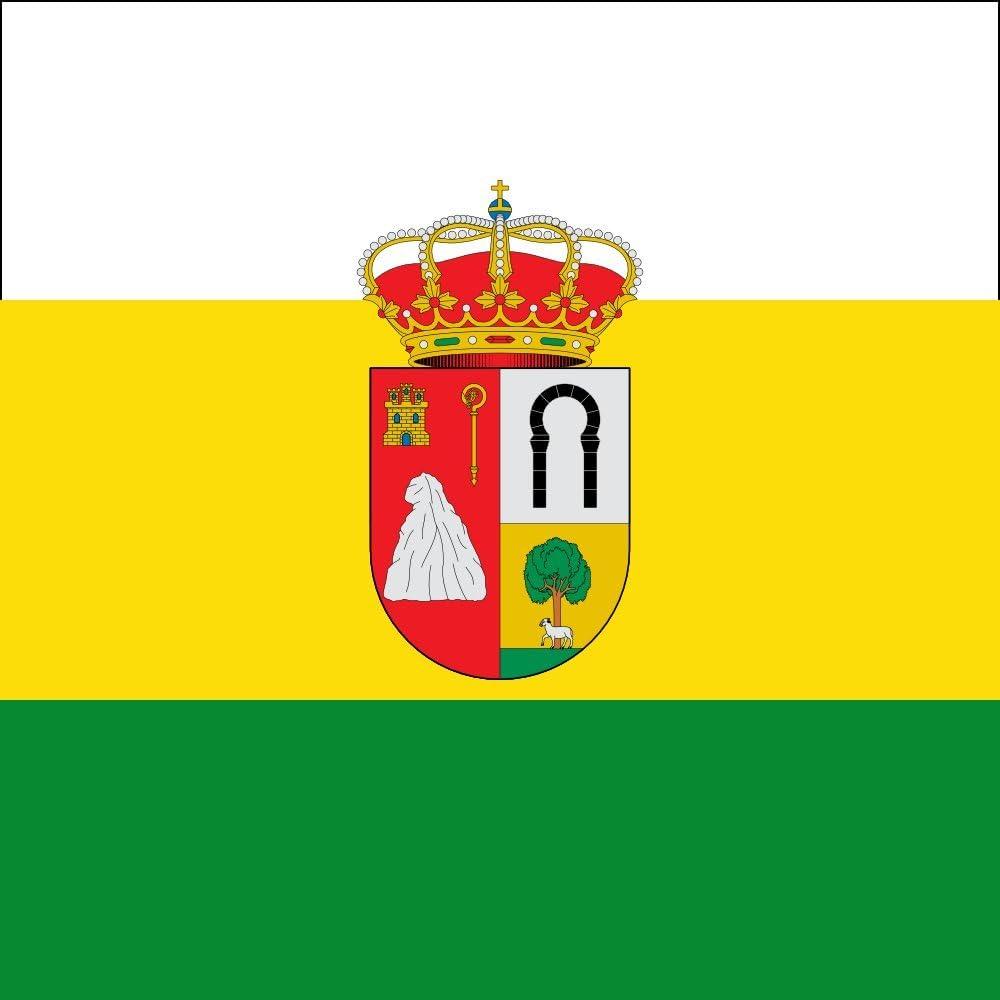 magFlags Bandera Large Barriosuso Santibáñez del Val, Burgos, España | 1.35m² | 120x120cm: Amazon.es: Jardín