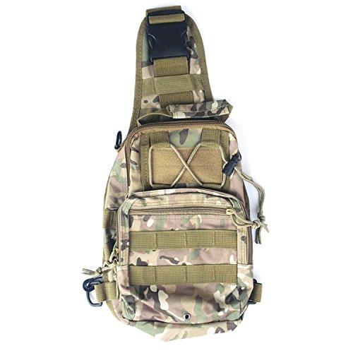 Tactical Sling Bag Rucksack Crossbody Wanderrucksack mit einem Gurt taktische Umhängetasche für Männer CP 9Tw3fmejXz