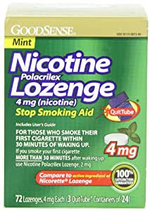 GoodSense Nicotine Lozenge, Mint, 72-count, 3x24p